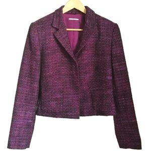 Tahari Black & Pink Tweed Short Blazer, size 14